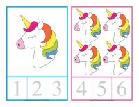 Cartes à compter-Licornes-1