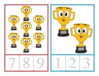 Cartes à compter-Olympiades d'été-1