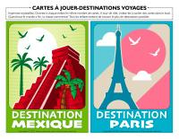 Cartes à jouer-Destinations voyages
