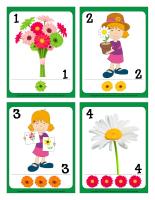 Cartes à jouer-Fleurs- jeu activité