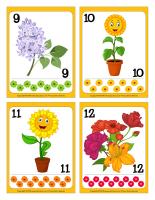 Cartes à jouer-Fleurs-jeu activité