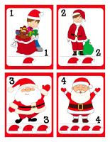 Cartes à jouer-Pères Noël-1