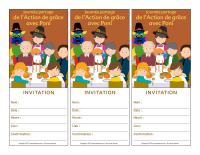 Cartes invitation-Journée partage de l'Action de grace avec Poni