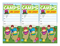Cartes invitations-Camps de jour