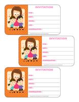 Carton d'invitation-La fête des Mères
