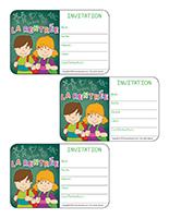 Cartons d'invitation-La rentrée