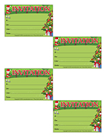 Cartons d'invitation-Noël des campeurs