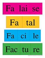 Casse-têtes des mots-Lettre F