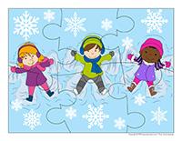 Casse-tête-Flocons de neige