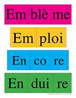Casse-tête de mots-Lettre E