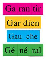 Casse-tête de mots-Lettre G