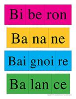 Casse-tête des mots-Lettre B