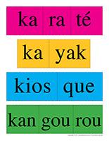 Casse-tête des mots-Lettre K