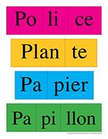 Casse-têtes de mots-Lettre P jeux activité