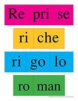 Casse-têtes de mots-Lettre R