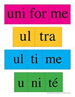 Casse-têtes de mots-Lettre U