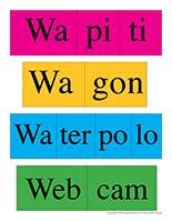 Casse-têtes de mots-Lettre W