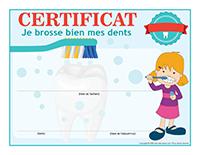 Certificat-Je brosse bien mes dents 2018