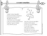 Chanson - Il pleut bergère