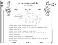 Chanson - Si tu aimes la météo