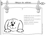 Chanson - bingo le chien