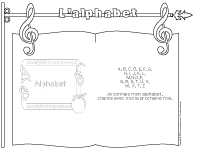 Chanson - l'alphabet