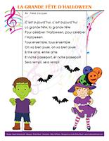 Chanson-La grande fête d'Halloween