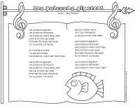 Chanson-Les poissons gigotent