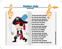 Chanson-Monsieur pirate