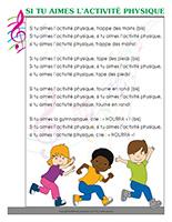 Chanson-Si tu aimes-l'activité physique