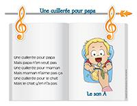 Chanson-Une cuillerée pour papa-le son A