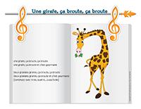 Chanson-Une girafe, ça broute, ça broute