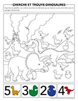 Cherche et trouve-Dinosaures