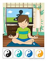 Cherche et trouve-Le yoga