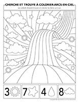 Cherche et trouve à colorier-Arcs-en-ciel