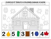 Cherche et trouve à colorier-Cabane à sucre