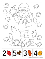 Cherche et trouve à colorier-Couleurs d'automne