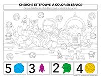 Cherche et trouve à colorier-Espace