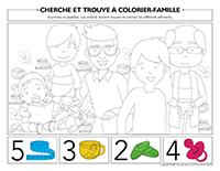 Cherche et trouve à colorier-Famille