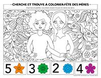 Cherche et trouve à colorier-Fête des Mères 2021