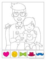 Cherche et trouve à colorier-Fête des Pères
