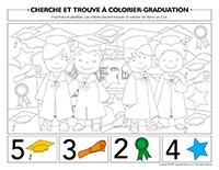 Cherche et trouve à colorier-Graduation