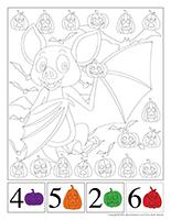 Cherche et trouve à colorier-Halloween
