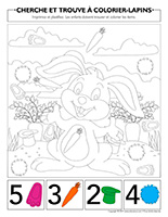 Cherche et trouve à colorier-Lapins