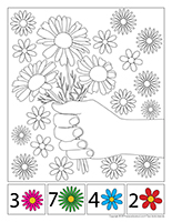 Cherche et trouve à colorier-Marguerites