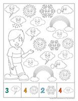 Cherche et trouve à colorier-Météo