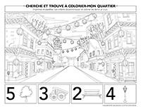 Cherche et trouve à colorier-Mon quartier