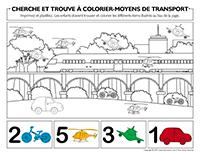 Cherche et trouve à colorier-Moyens de transport