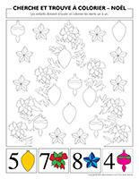 Cherche et trouve à colorier-Noël
