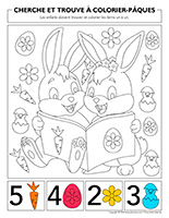 Cherche et trouve à colorier-Pâques 2020